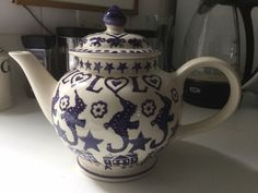 Purple Stripe 4 Cup Teapot (Discontinued)
