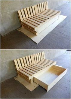 Here we would make you highlight with the superb idea of the wood pallet that is brought about with the fantastic effect of the pallet couch or daybed with the storage furniture impression. This pallet furniture has been all set with the storage that is at the bottom side that look so incredible.