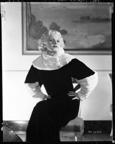 """Jean Harlow camera negatives from """"Dinner at Eight"""" sitting by George Hurrell."""