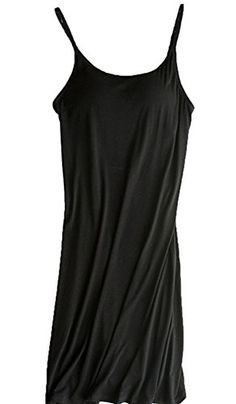 Womens Modal Built in Bra Camisole Shelf Bra Spaghetti Straps Tank Dress ** Continue to the product at the image link.(It is Amazon affiliate link) #handsome