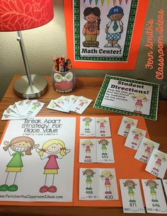 Are You Teaching How to Use the Break Apart Strategy For Place Value? Lessons, Resources, Tips and Freebies to teach the break apart strategy for place value, grade Go Math in your classroom. Math Rotations, Math Centers, Place Value Activities, Fun Activities, Third Grade Math, Fourth Grade, School Places, Learning Resources, Teaching Ideas