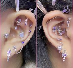 Jewelry Tattoo, Ear Jewelry, Cute Jewelry, Body Jewelry, Jewlery, Pretty Ear Piercings, Grunge Jewelry, Peircings, Piercing Tattoo
