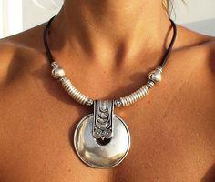 Tribal jewelry tribal necklaces women fashion leather by kekugi