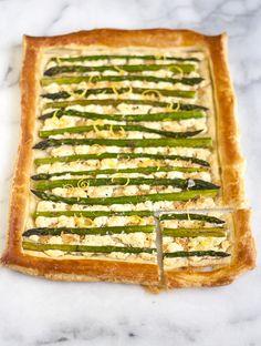 Lemon Asparagus Tart | Bijouxs | Little Jewels from the Kitchen
