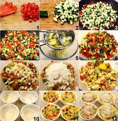 I tortini di verdure e formaggio sono dei deliziosi pirottini vegetariani preparati con saporite verdure a cubetti, patate e scamorza affumicata. Per preparare i tortini...