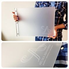 Custom graphic design portfolio book in frosted clear acrylic with an engraving treatment | Flickr - Photo Sharing!