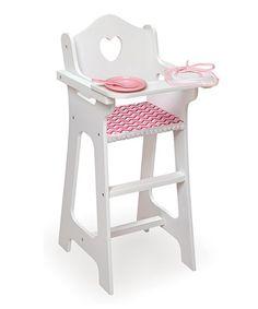 Look what I found on #zulily! Pink Chevron Doll High Chair Set #zulilyfinds