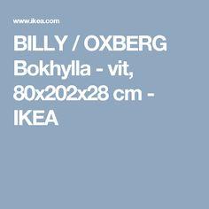 BILLY / OXBERG Bokhylla - vit, 80x202x28 cm - IKEA