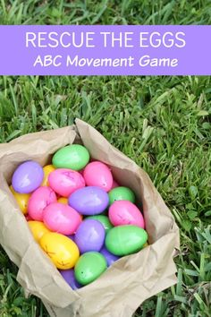 Rescue the Baby Bird Eggs Letter Recognition ABC Game~Great outdoor learning activity for spring!