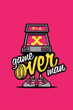 Game Over Man by cronobreaker on deviantART Digital Illustration, Graphic Illustration, Graphic Art, Graphic Design, Game Design, Design Art, Game Over Man, Character Art, Character Design