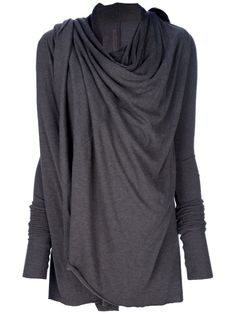 RICK OWENS draped cardigan by farfetch