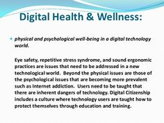 digital health and well being-digital citizenship Technology World, Digital Technology, Keeping Healthy, How To Stay Healthy, Health Tips, Health Care, Psychological Well Being, What Is Digital, Detox Tips