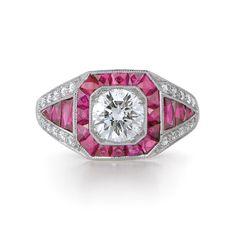 "xtremetfabuleux: "" (via Diamond Ring Platinum Vintage Style | Kwiat) """