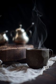 Tea time// wood