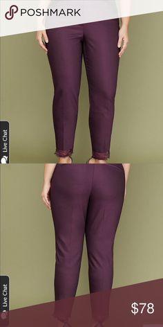 ec9e557df86 Lane Bryant Allie Ankle Pant Eggplant Size 18 Lane Bryant Allie Ankle Pant  features a radically