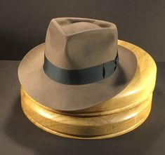 e666ca5cf8c Just finished this natural colored 6 point diamond crease fedora with  vintage iron grosgrain ribbon. The finest in bespoke hats. No automation  and no sewing ...