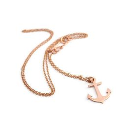 Anchor pendant //  handmade nautical theme by SweetNovemberJewelry