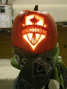 Seattle Sounders Pumpkin