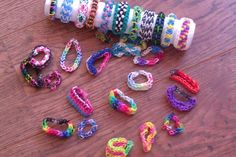 My rainbow loom bracelet collection!