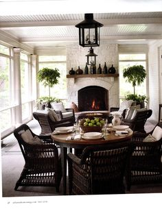 Newest Free rounded Fireplace Hearth Suggestions Awesome Small Fireplace Makeover Decoration Ideas – Hearth mantels are typically the main tar Sunroom Decorating, European Home Decor, Porch Fireplace, Seasonal Room, Outdoor Rooms, House, House Interior, Small Fireplace, Porch Decorating