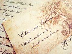 Elegant Romantic Fairytale wedding invitations suite - Fairytale princess wedding invitations Sample