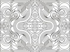 Printable Geometric Pattern Coloring Pages for Adults animal