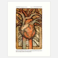 Erin J. King: Human Heart Print 8x10,