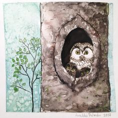 Day 2 of #the100daysofwoodlandwonders . I made this boreal owl family for my four year old son who wanted me to draw an owl mom and two little ones. ❤️ #thehundreddayproject #inkdrawing #inkandwatercolors #owls #owlart #owlillustration #forestillustration #forest #forests #woodland #woodlanillustration #woodlandart #illustrationoftheday #iamcreative #artsagram #illustration #kuvitus #drawing #owldrawing #borealowl