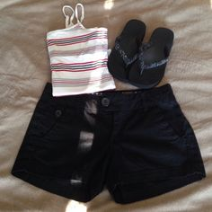 Black short shorts Black shorts. Size 5. 98% cotton 2% spandex. 9 1/2 in long. Tank for sale also! Bundle and save! Freestyle Other