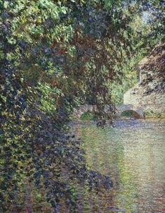 Watermill at Limetz by @claude_monet #impressionism