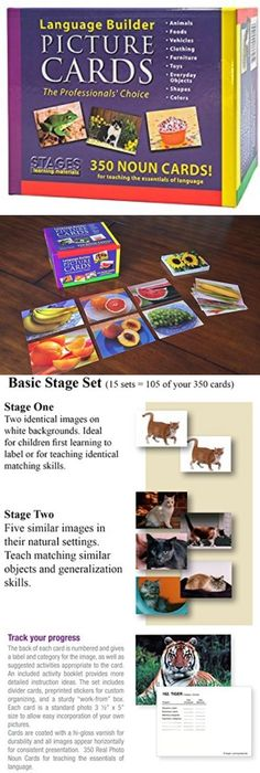 Other Alphabet and Language Toys 11732: Kids Language Vocabulary Builder Picture Flash Cards Study Nouns Learning School -> BUY IT NOW ONLY: $178.49 on eBay!