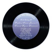 Unique Retro Vinyl Record Wedding Invitation Retro Wedding Invitations, Promotion Code, Youre Invited, Vinyl Records, Coding, Unique, Vintage Wedding Invitations, Programming