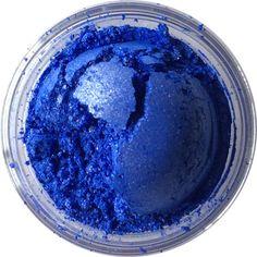 Vivid matte opaque blue with subtle white shimmer. Not lip-safe.