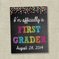 first day of school chalkboard last day of by SweetfaceCelebration