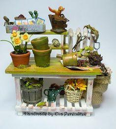 Mesa de jardinería - Potting bench by Handmade by Eva Perendreu