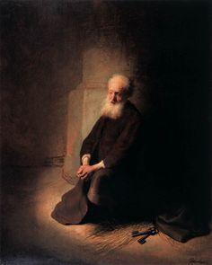 Rembrandt - St. Peter in Prison (St. Peter Kneeling), 1631