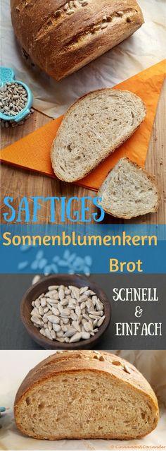 Saftiges Sonnenblumenkern Brot - ein schnelles einfaches Brotrezept