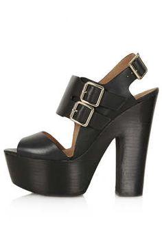 LIQUORICE Buckle Platforms - Heels  - Shoes