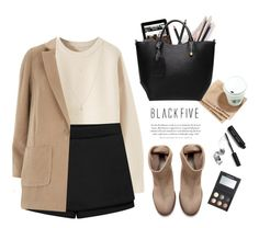 """BF style."" by yexyka ❤ liked on Polyvore featuring Louis Vuitton, Zara, Dorothy Perkins, Bobbi Brown Cosmetics, LORAC, ASOS, bag, jumper, skorts and BlackFive"