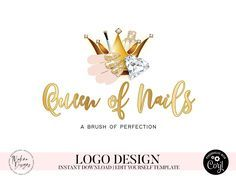 Business Plan Pdf, Business Planning, Nail Logo, Nail Designs, Logo Design, Place Card Holders, How To Plan, Nails, Handmade Gifts