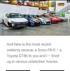 Scion, Race Cars, Toyota, Ram Cars