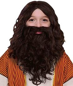 Kids' Costume Wigs - Forum Novelties Childs Biblical Wig and Beard Set Brown * You can get more details by clicking on the image.