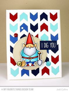 You Gnome Me Stamp Set and Die-namics, Chunky Chevron Cover-Up Die-namics, Blueprints 2 Die-namics - Jodi Collins  #mftstamps