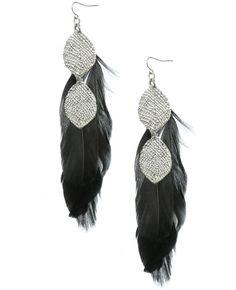 Linear Feather Earring - Jewelry