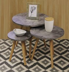Fine Living - Kenzo - Side Tables - Set Of 3 - 2000230 | Buy Online in South Africa | takealot.com