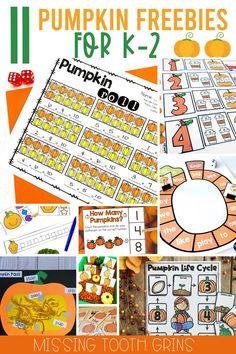Autumn Activities, Reading Activities, Classroom Activities, Kindergarten Themes, Classroom Freebies, Fall Classroom Decorations, Parts Of A Pumpkin, Pumpkin Life Cycle, Science Resources
