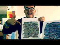 Como crear una mano 3D #creatividad #lineas #mano #3d #sharpies #sharpiescrafts #efecto #efectooptico #colores #hazlotumismo #facil #divertido #roi #artvideos #videos #vlogger #followme #tweetme