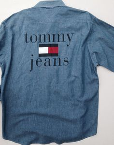 Vintage Tommy Hilfiger Jeans Chambray Shirt L by LazyFaire on Etsy