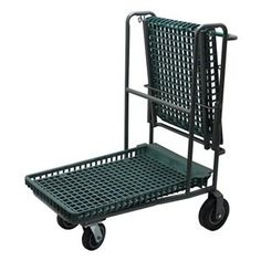 Garden Cart, Flip Top, 40x47 by Bison. $565.64. Garden Cart, Flip Top, Load Capacity 300 lb., Steel Tubing and Structural Foam Plastic Construction, E-Coat Finish, Color Gray Frame and Green Trays, Overall Length 40 In., Overall Width 29-1/4 In., Overall Height 47 In., Number of Shelves 1, Caster Size 5 In., Caster Type 4 Swivel, Caster Material Steel, Capacity per Shelf 300 lb., Distance Between Shelves 18 In., Plastic Handle, Tray Capacity 500 lb.