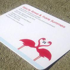 Modern Flamingo Wedding Invitation - Felicity Sample Set. $5.00, via Etsy.
